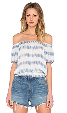 La Rue Crop Top in Indy Blue