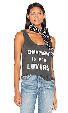 Champagne Love Tank in Charcoal