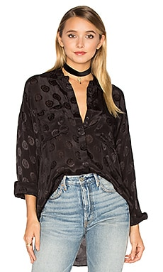 Tahara Woven Top in Black Sands
