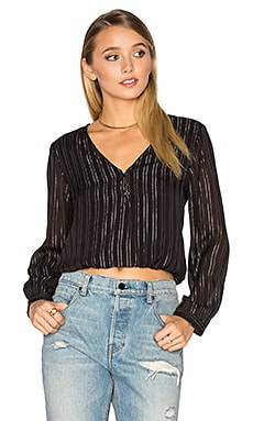 Moonlight Woven Top in Black Sands