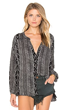 Spellbound Woven Top in Black Sands