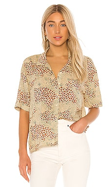Wildcat Woven Blouse AMUSE SOCIETY $54