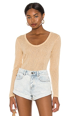 Rosewater Long Sleeve Knit Top AMUSE SOCIETY $20 (FINAL SALE)