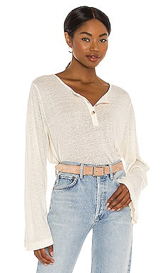 The Jane Long Sleeve Knit Henley AMUSE SOCIETY $26