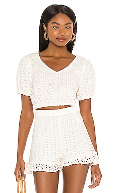 Lindsey Short Sleeve Woven Top AMUSE SOCIETY $70 BEST SELLER