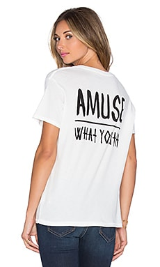 AMUSE SOCIETY Wy Glimpse Tee in Casa Blanca
