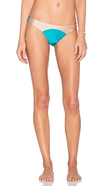 Sara Colorblock Skimpy Bottom in Turquoise