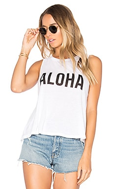 x Samudra Hello Hawaii Tank in White