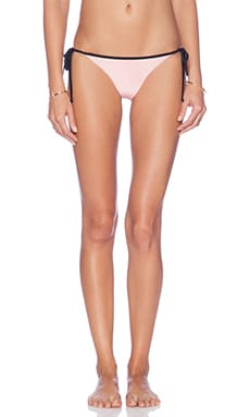 AMUSE SOCIETY Delray Color Blocked Cheeky Bikini Bottom in Marrakech Pink