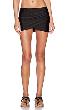 AMUSE SOCIETY Everyday Solid Skirt in Black Sands