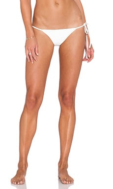 AMUSE SOCIETY Del Ray Moroccan Side Tie Bikini Bottom in White