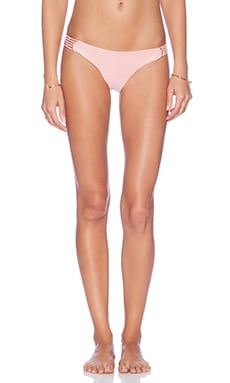 AMUSE SOCIETY Native Solid Everyday Bikini Bottom in Marrakech Pink