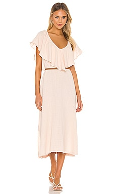 Brigitte Ruffle Midi Dress ANAAK $198