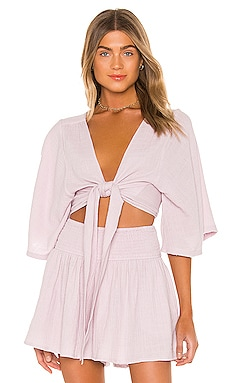 Anneka Elbow Sleeve Tie Blouse ANAAK $180