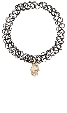 Anarchy Street Talk To The Hand Choker in Black