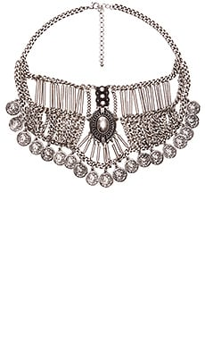 Anarchy Street Rough Rider Bib Necklace in Silver