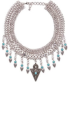 Anarchy Street Rain Dance Bib Necklace in Silver
