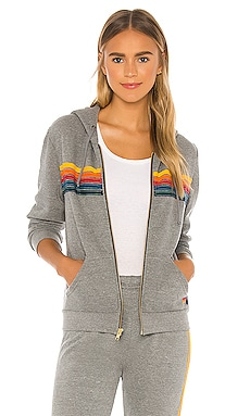 5 Stripe Zip Hoodie Aviator Nation $189