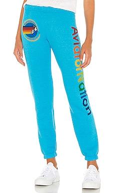 Свободные брюки - Aviator Nation Одежда для дома фото