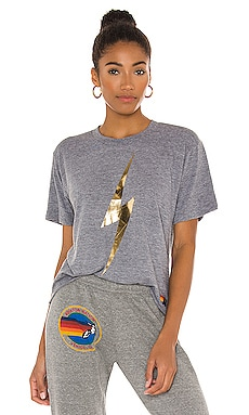 Bolt Metallic Boyfriend Tee Aviator Nation $83