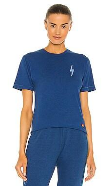 Bolt Embroidery Boyfriend Tee Aviator Nation $59
