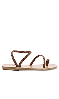 Eleftheria Sandal in Chocolate & Chocolate