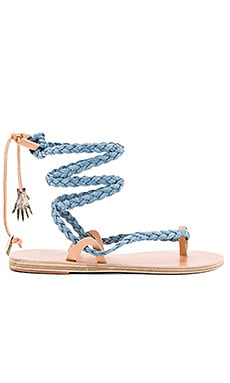 Atropos Sandal in Light Denim & Natural