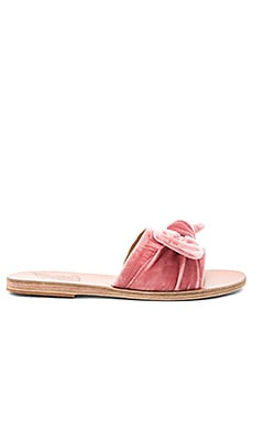 Taygete Bow Slide in Dusty Pink