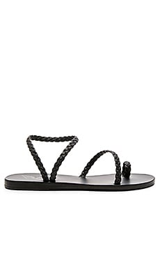 Ancient Greek Sandals Eleftheria Sandal in Black & Black