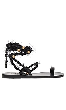 Clotho Sandal in Black & Black