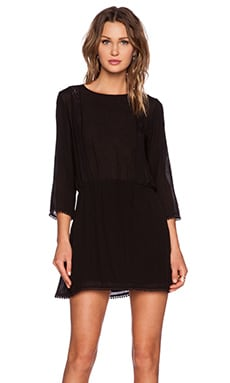 ANINE BING Dress with Lace Inserts in Black
