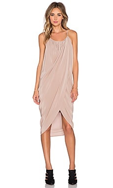 ANINE BING Wrap Dress in Powder