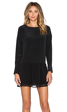ANINE BING Long Sleeve Mini Dress in Black
