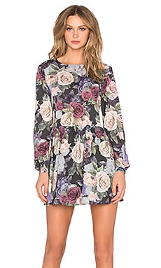 ANINE BING Long Sleeve Dress in Flower
