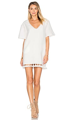 ANINE BING Tassel Lace Shift Dress in Pockets