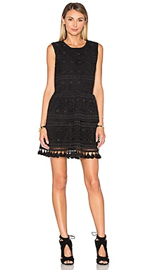 ANINE BING Tassel Lace Dress in Black