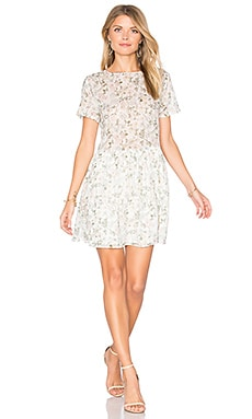 Floral Mini Dress in Cream