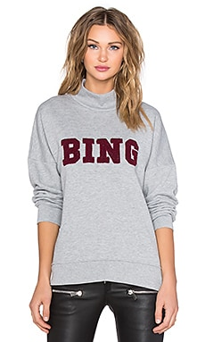 ANINE BING Oversized Bing Sweatshirt in Grey