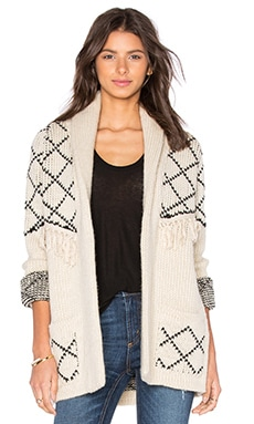 ANINE BING Chunky Cardigan in Cream
