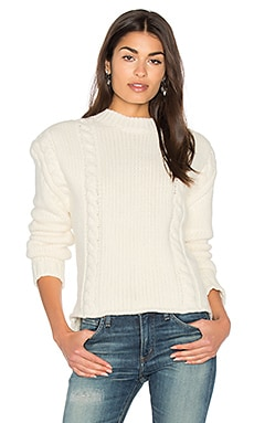 Chunky Knit Sweater in Cremefarben