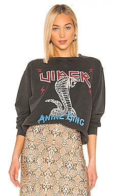Cobra Sweatshirt ANINE BING $169 NEW ARRIVAL