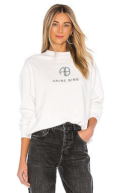 Ramona Monogram Sweatshirt ANINE BING $169 BEST SELLER