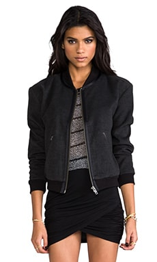 ANINE BING X Sincerely Jules Exclusive Bomber Jacket en Anthracite