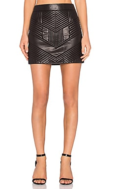 ANINE BING Stitched Leather Skirt in Black