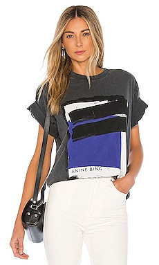 Georgie Blue Painting Tee ANINE BING $99