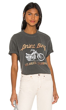 Lili Gun Powder Motorcycle Tee ANINE BING $99