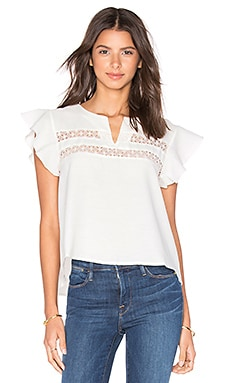 ANINE BING Lace Top in White