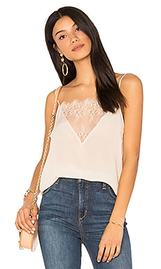 Lace Silk Cami in Nude