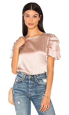 Frill Sleeve Top in Rose