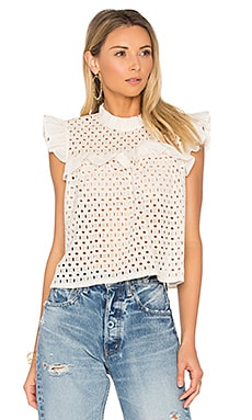 Eyelet Top in Cream